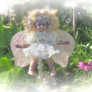 Evil Fairy w Demon Doll horns & Teeth OOAK